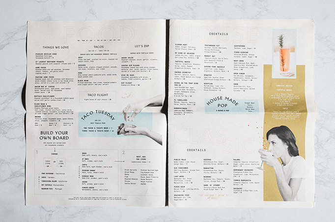The Public House Menu by Old Friend