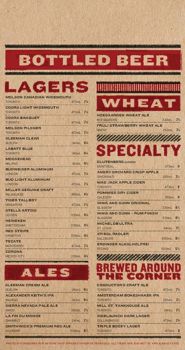 Real Sports Bar & Grill Menu by Jarheadesign