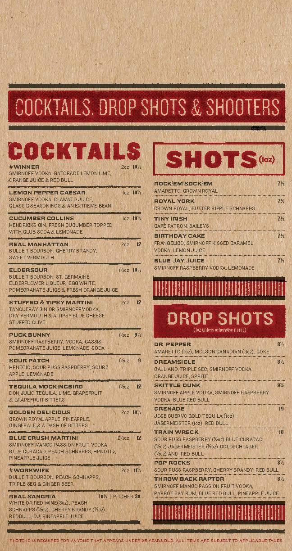 Real Sports Bar & Grill Menu by Jarheadesign