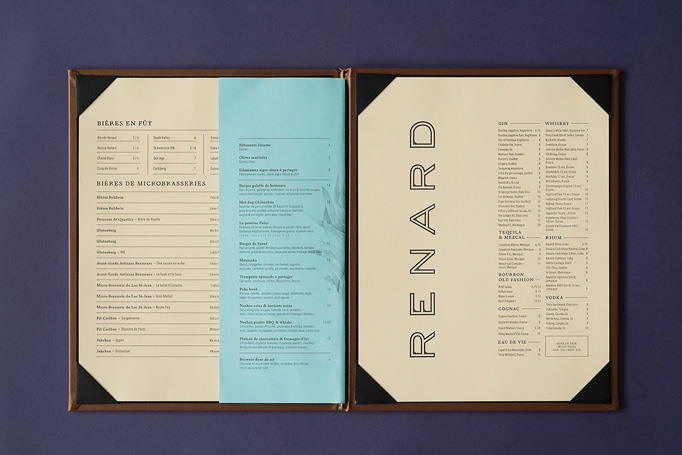 Renard Menu by Véronique Lafortune and Gabrielle Matte