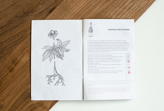 Root & Flower Menu by 970 Design