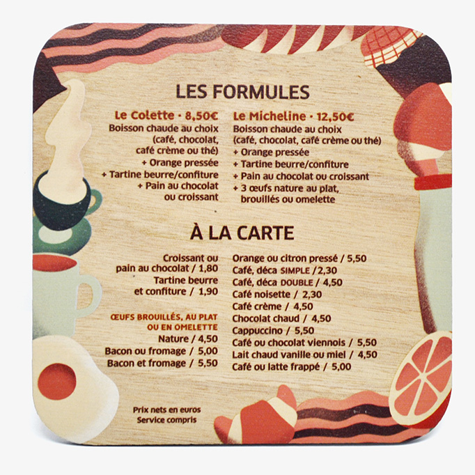 Rouge bis and Augustin Batignolles Menus by Festin studio and madameBois