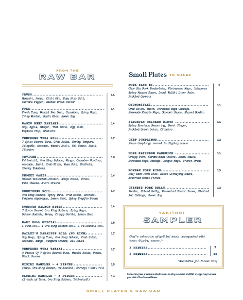 Soji Menu by ThreeSixtyEight