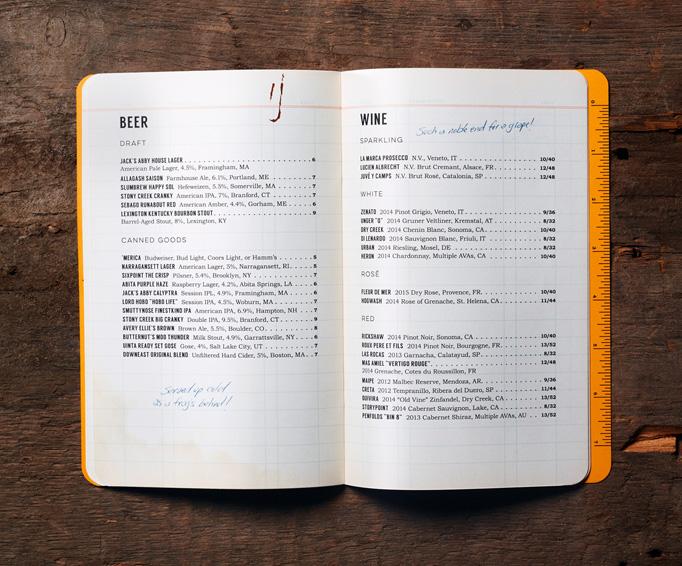 Southern Kin Drinks Menu by Stebbings Partners