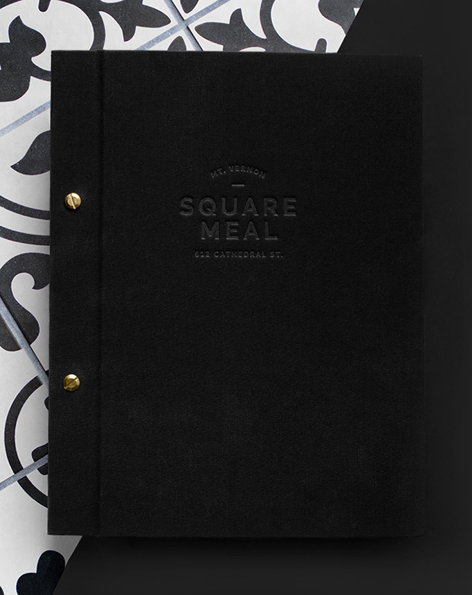 Square Meal Menu by Younts Design Inc