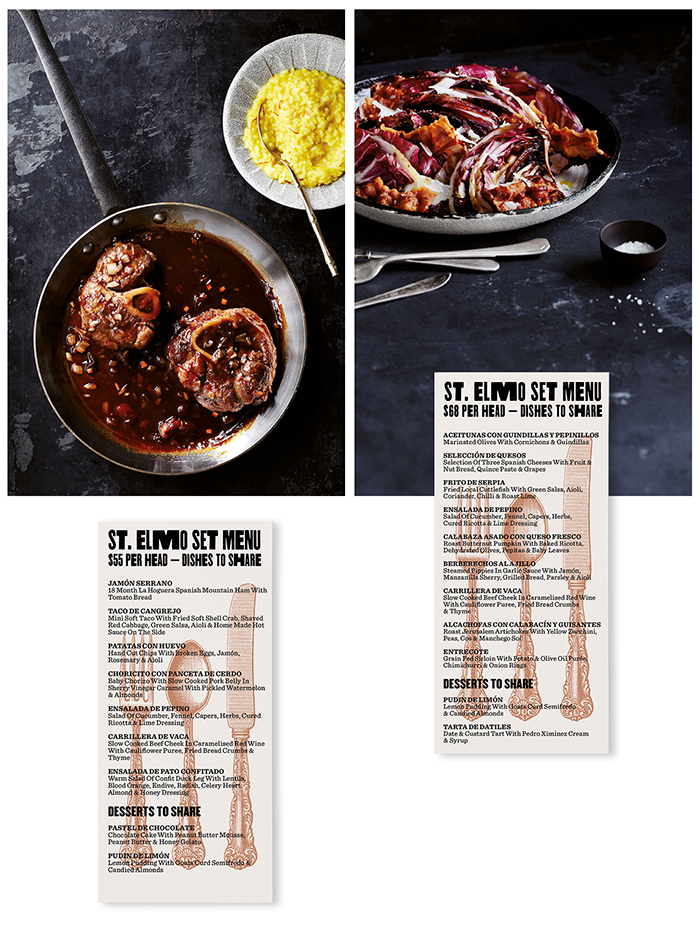 St. Elmo Menu by Dimes Design