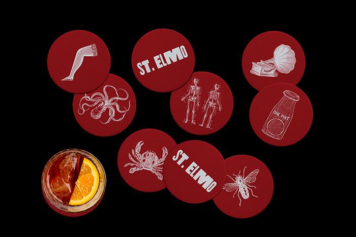 St. Elmo Menu by Dimes Design