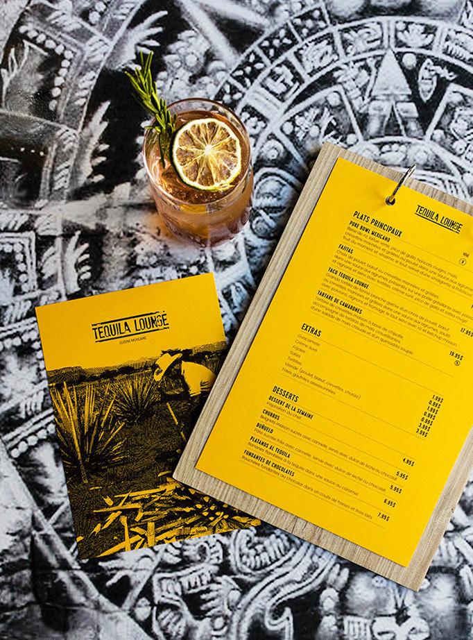 Tequila Lounge Menu by Filière M