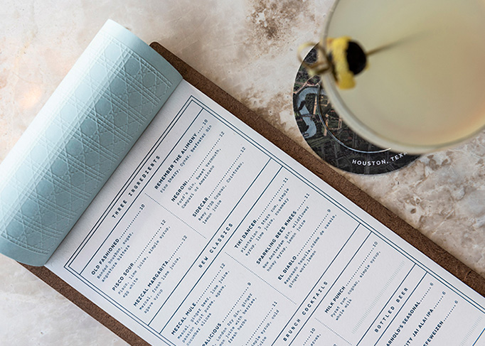 The Classic | Houston Menu by Principle