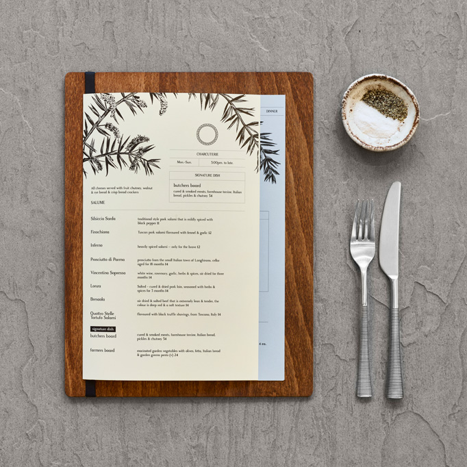 The Croft House Menu by Brandworks