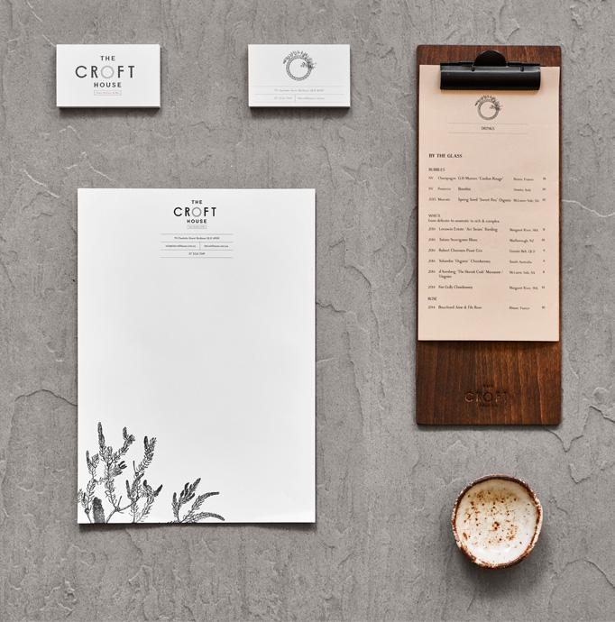 The Croft House Menu by Brandworks