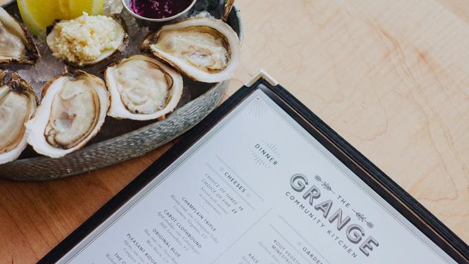 The Grange Menu by Block Club