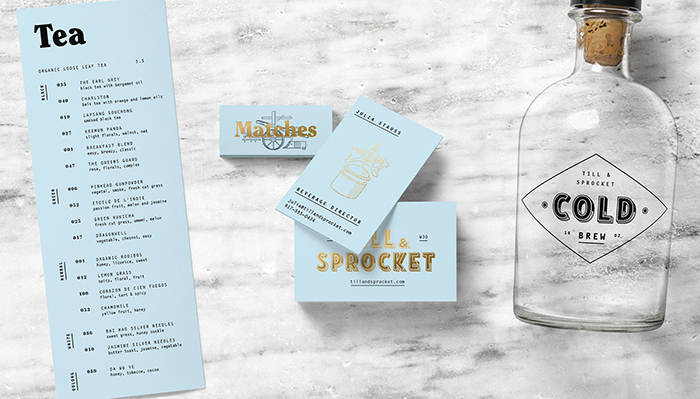 Till & Sprocket Menu by Will Gardner