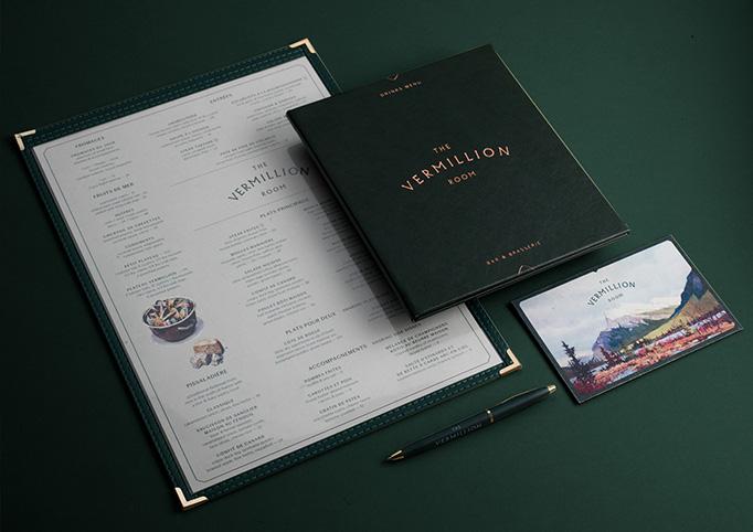 The Vermillion Room Menu by Glasfurd & Walker