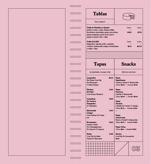 Viagro Menu by Estudio Nuar