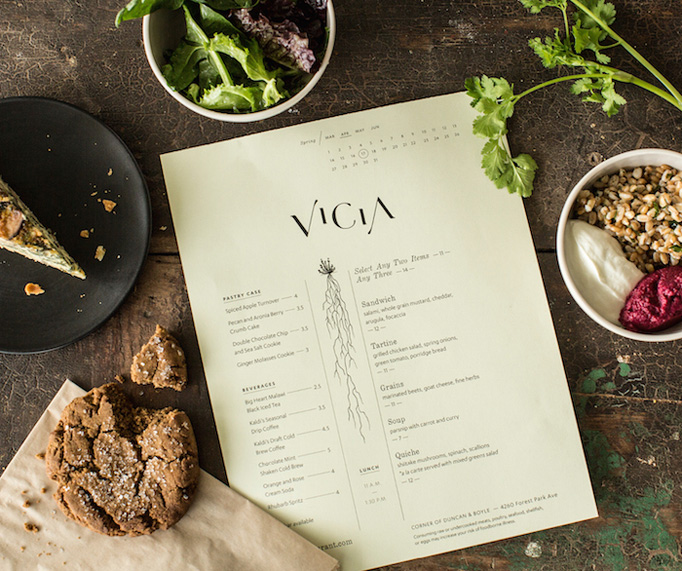 Vicia Menu by Toky