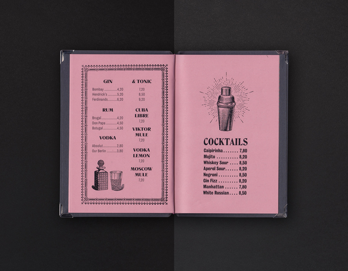 VIKTOR Café & Bar Menu by Schoener