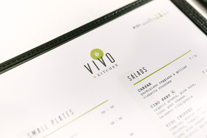 Vivo Kitchen Menu by Open Book Communications