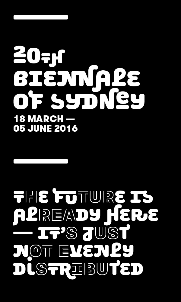 New Logo and Identity for 20th Biennale of Sydney by For the People