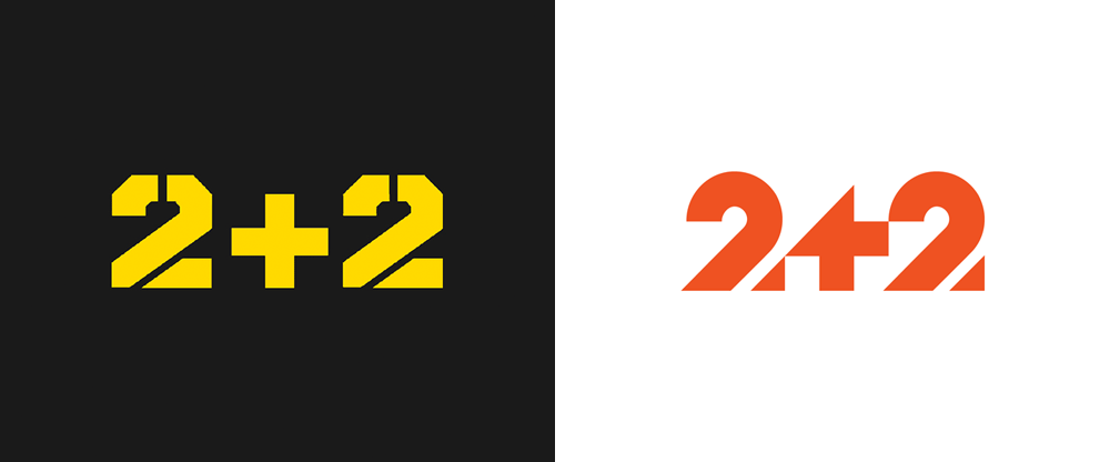 New Logo, Identity, and On-air Graphics for 2+2