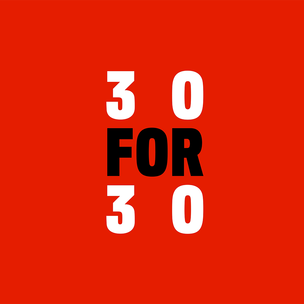 New Logo and Identity for 30 for 30 by COLLINS