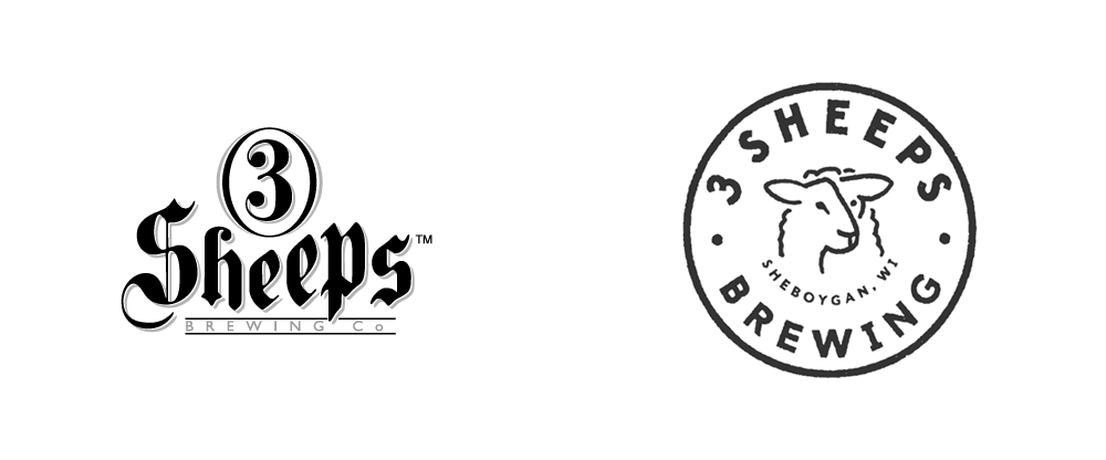 New Logo for 3 Sheeps Brewing by Studio Malt and Matt Tanaka Marketing Co.