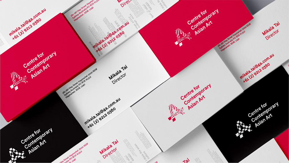 New Logo and Identity for 4A Centre for Contemporary Asian Art by Futurebrand