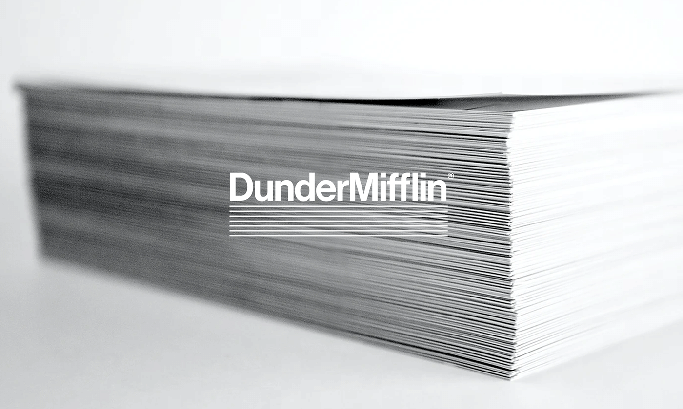 New Logo and Identity for Dunder Mifflin