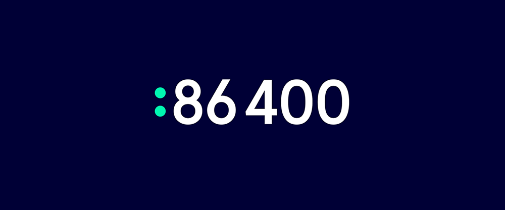 New Logo and Identity for 86 400 by Hulsbosch