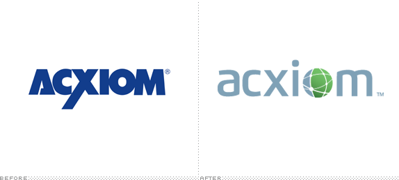 Acxiom Logo, Before and After