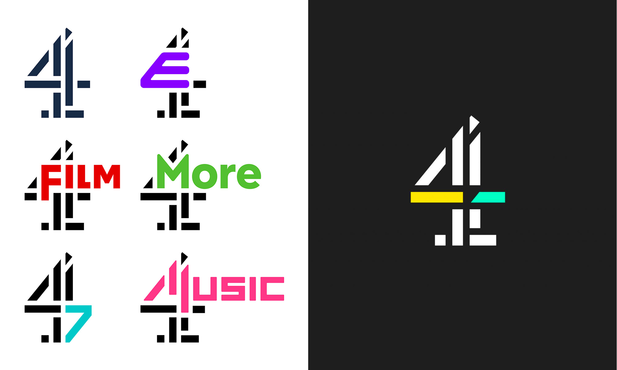 New Logo and Identity for All 4 by DixonBaxi and 4creative