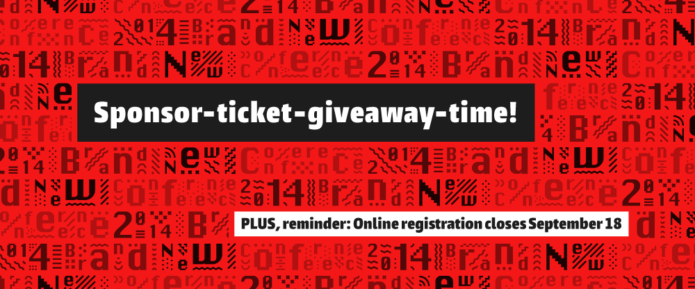 2014 Brand New Conference: Ticket Giveaway