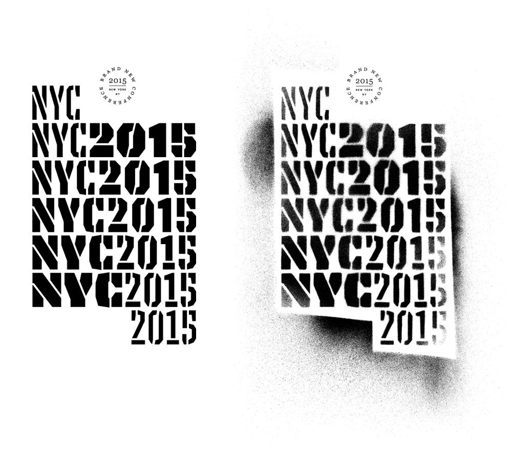 New Logo and Identity for 2015 Brand New Conference by UnderConsideration