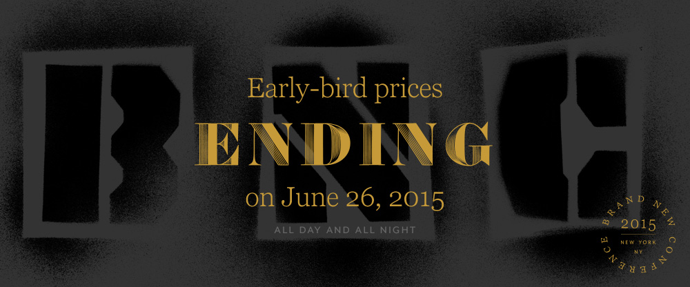 2015 Brand New Conference: Early-bird Ending Soon