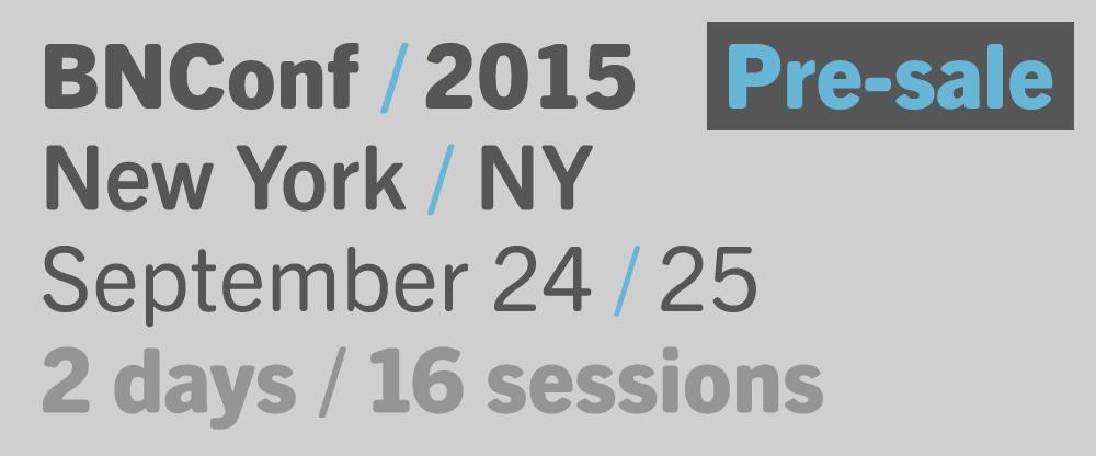 2015 Brand New Conference: Pre-sale