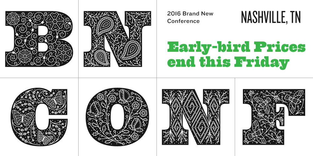 2016 Brand New Conference: Early-bird Ends this Friday