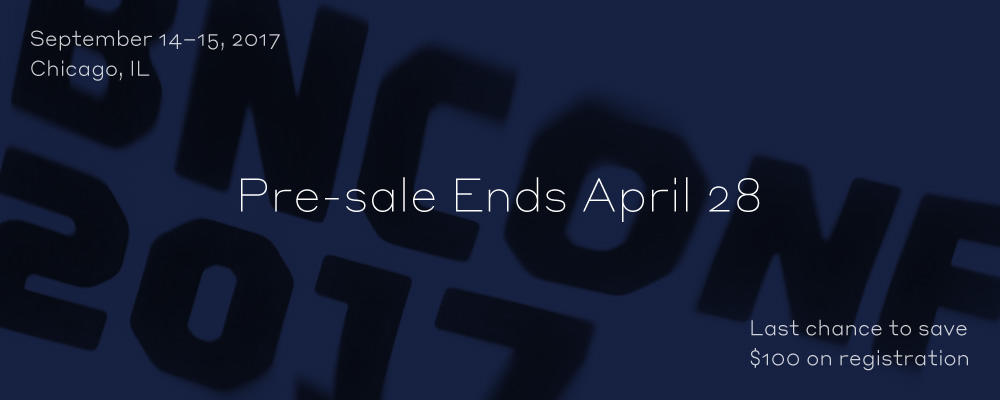 2017 Brand New Conference: Pre-sale Ends Soon