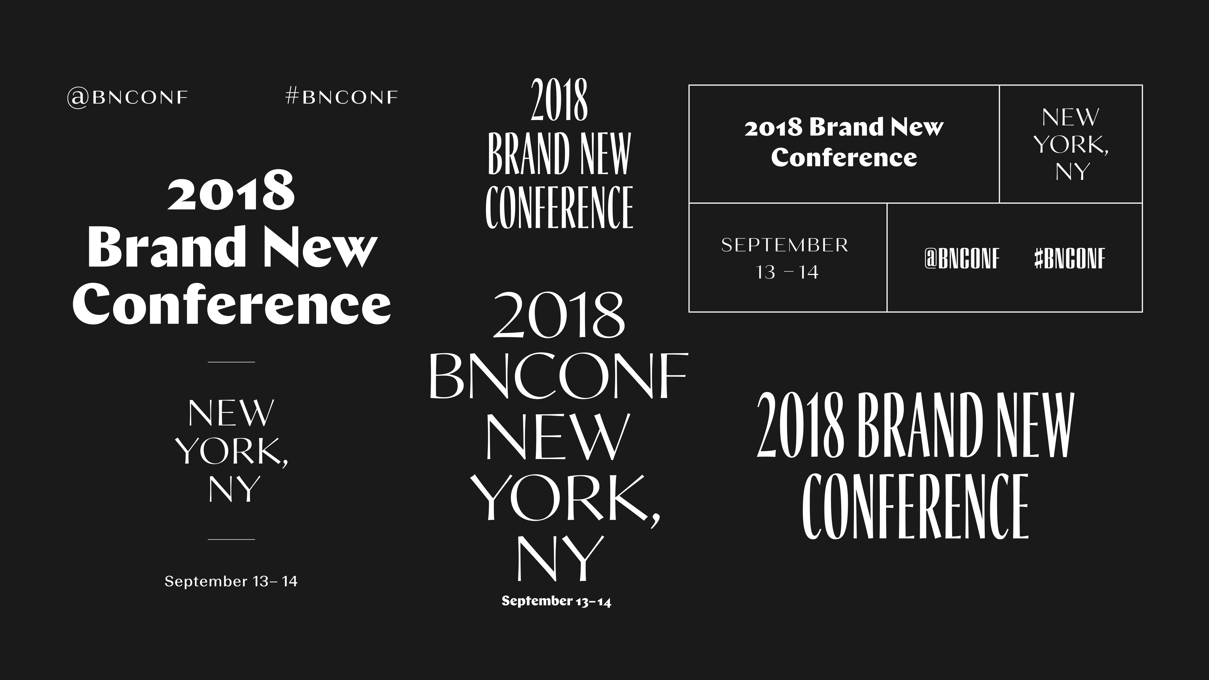 New Logo and Identity for 2018 Brand New Conference by UnderConsideration