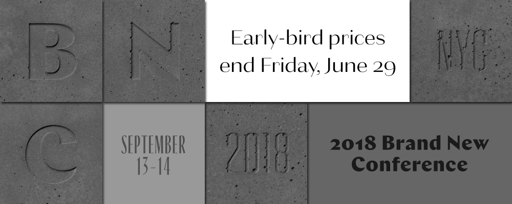 2018 Brand New Conference: Early-bird Ends this Friday, June 29