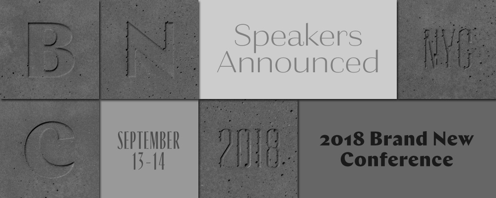 2018 Brand New Conference: Speakers Announced