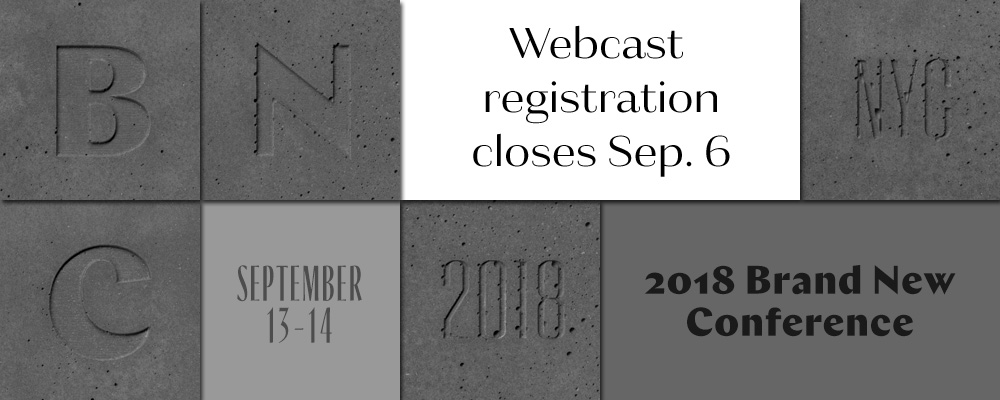 2018 Brand New Conference: Webcast Registration