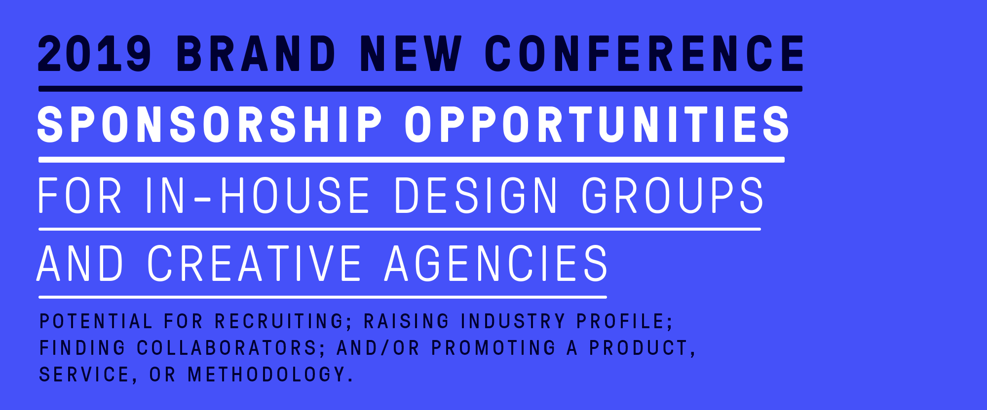 2019 Brand New Conference: Sponsorship Opportunities