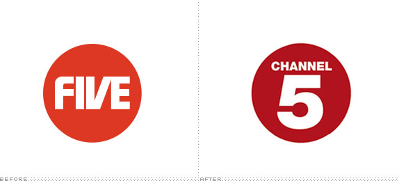 Channel Five Logo, Before and After