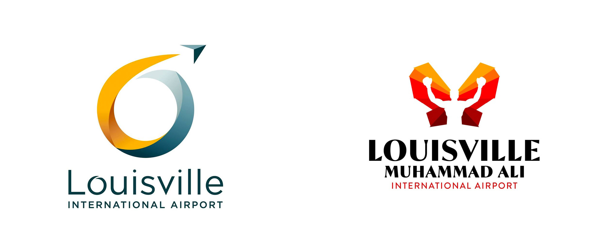 New Logo for Louisville Muhammad Ali International Airport by Badge Design Studio