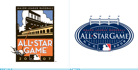 MLB All-Star Logo, Before and After