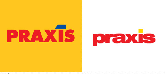 Praxis Logo, Before and After