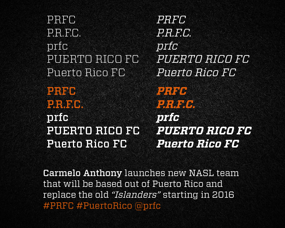 New Logo and Identity for Puerto Rico FC by Diego Guevara