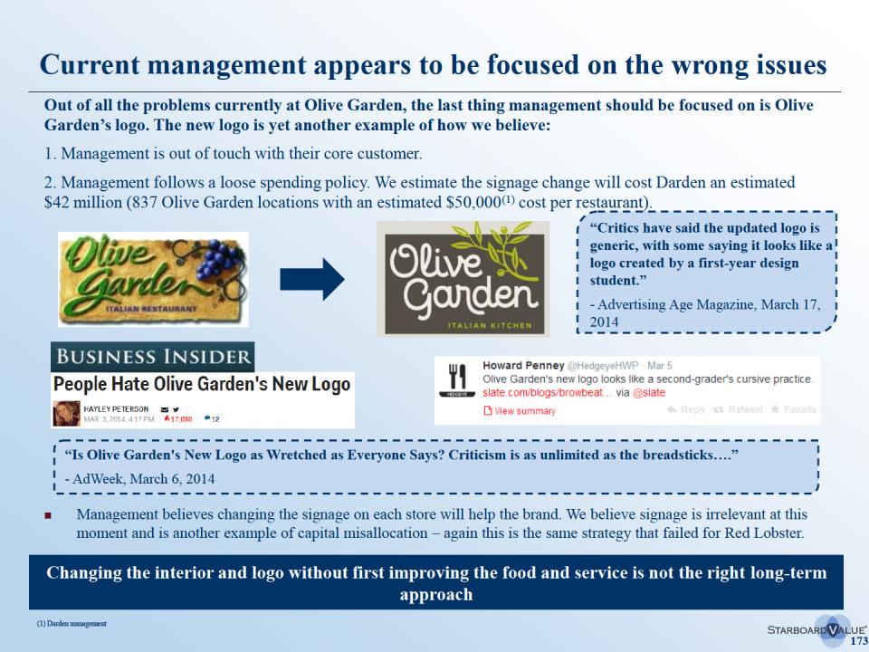 Olive Garden Custody Fight
