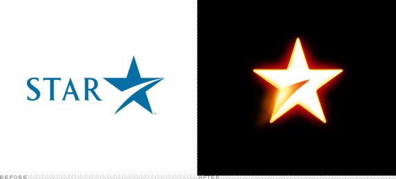 Star Network Logo, Before and After