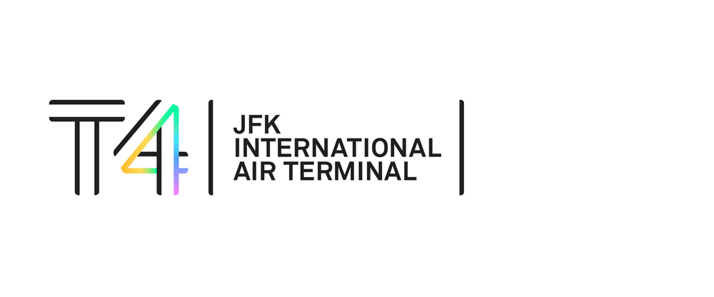 New Logo and Identity for JFK Terminal 4 by Base Design